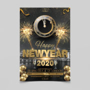2020 New Years Free PSD Flyer Templates