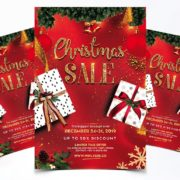 Sale Christmas Flyer Free PSD Template