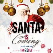 Santa is Coming PSD Flyer Free Template