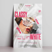 White Classy Free PSD Flyer Template