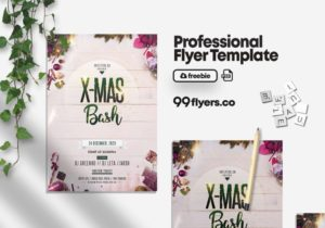 XMAS Bash Celebration Free PSD Flyer Template
