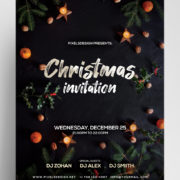 XMAS Invitation Free PSD Flyer Template