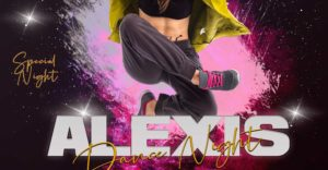 Dance Night Party Free PSD Flyer Template