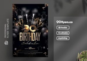Birthday Celebration Free PSD Flyer Template