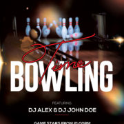 Bowling Tournament Free PSD Flyer Template