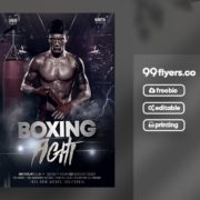 Boxing Night Free PSD Flyer Template