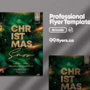 Christmas Event Snow Free PSD Flyer Template