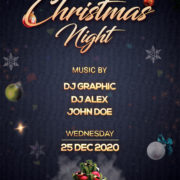 Christmas Elegant Night Free PSD Flyer Template