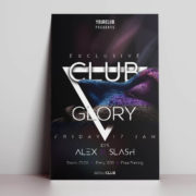 Club Night Glory Free PSD Flyer Template