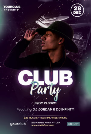 Party Night Club Free PSD Flyer Template