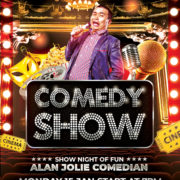 Comedy Event Free PSD Flyer Template