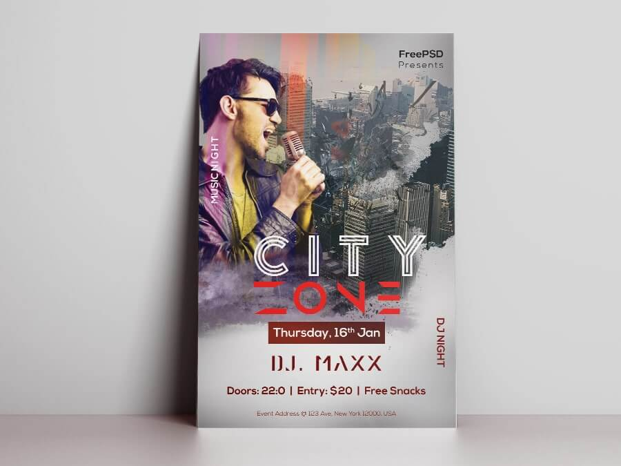 Concert Zone Free PSD Flyer Template