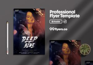 Deep Club Night Free PSD Flyer Template