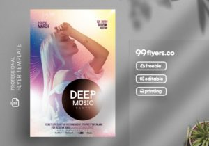 Deep Music Artist Events PSD Free Flyer Template