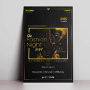 Fashion Event Night Free PSD Flyer Template