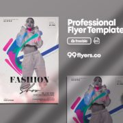 Fashion Show Freebie PSD Flyer Template