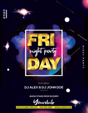 Ladies Party Night Freebie PSD Flyer Template