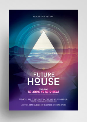 Future Event Futuristic Free PSD Flyer