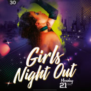 Night Out Ladies Free PSD Flyer Template