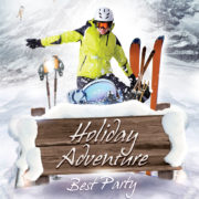 Winter Ski Holiday Free PSD Flyer Template