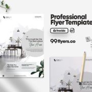 Interior Promotion Flyer Free PSD Template