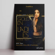 Ladies Golden Night Free PSD Flyer Template