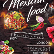 Event Mexican Food Free PSD Flyer Template