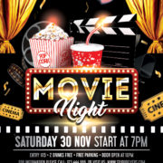 Theater Movie Night Free PSD Flyer Template