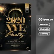 NYE Event 2020 Freebie PSD Flyer Template