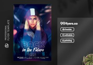 Night Club Future Event Free PSD Flyer Template
