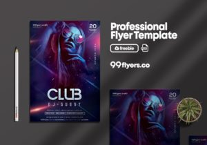 Night Party DJ Flyer Free PSD Template