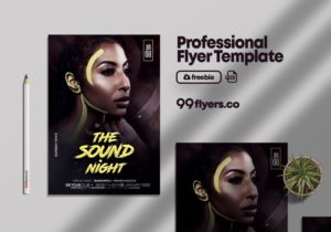 Night Sound Party Free PSD Flyer Template