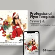 The XMAS Free PSD Flyer Template