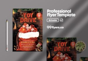 Toy Drive XMAS Free PSD Flyer Template