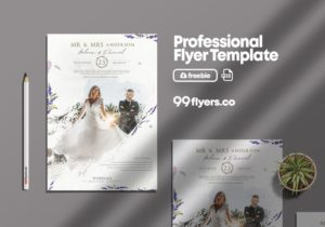 Wedding Business Flyer Free PSD Template