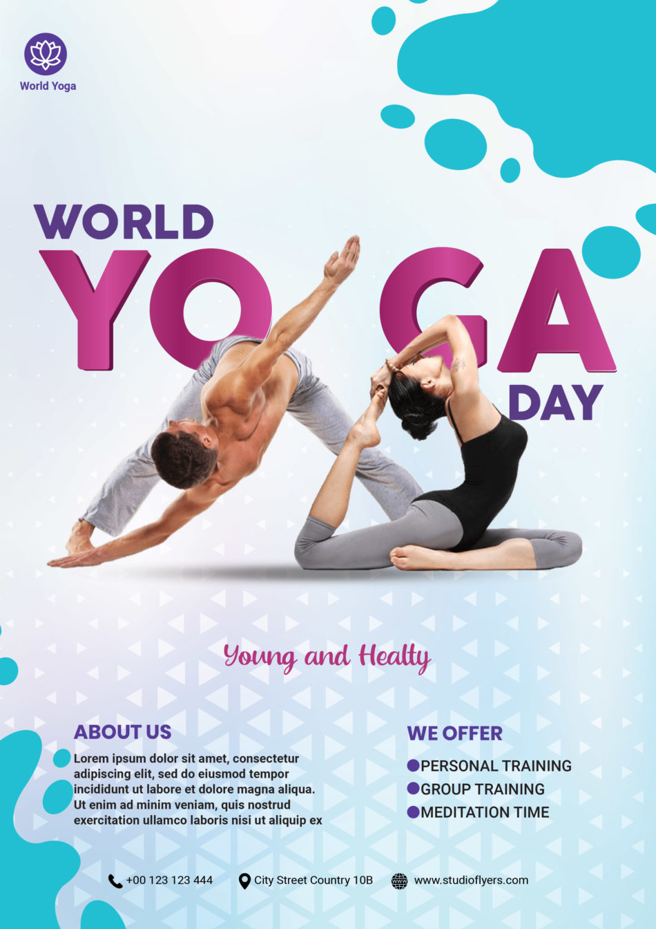 Yoga Day Free PSD Flyer Template