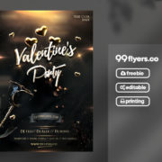 Celebration Valentine's Event Free PSD Flyer Template