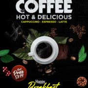 Coffe Time Free PSD Flyer Template