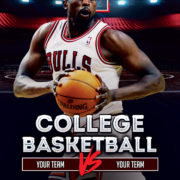 Basketball Game Event Free PSD Flyer Template