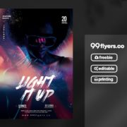 Color Party Flyer – Free PSD Template