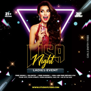 Dj Club Event Freebie PSD Flyer Template