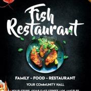 Fish Restaurant Event Free PSD Flyer Template