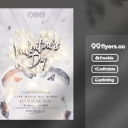Happy Valentine's Day Freebie PSD Flyer Template