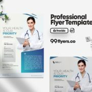 Health Medical Freebie PSD Flyer Template