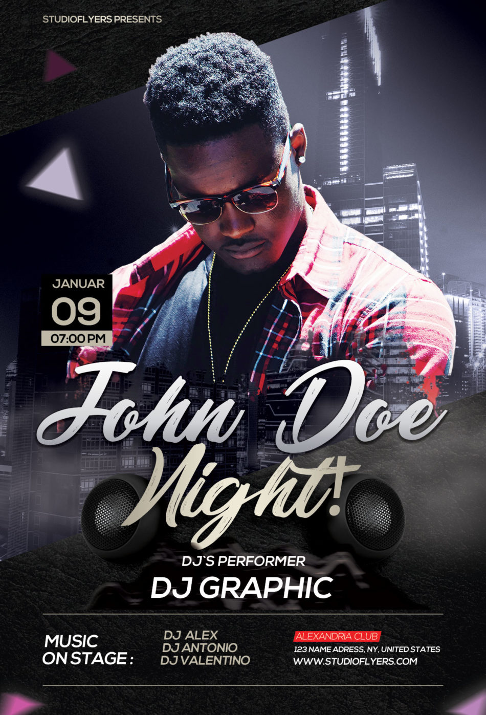 John Doe Night Free PSD Flyer Template