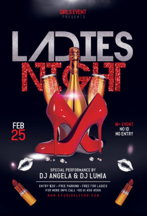 Ladies Event Free Flyer PSD Template