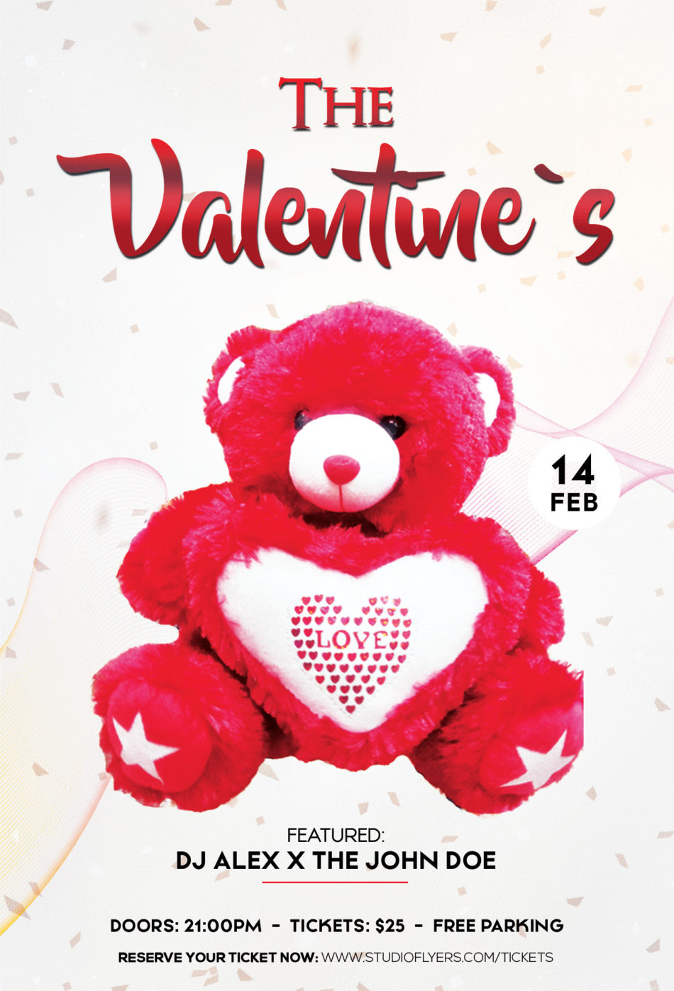 Valentine Day Event Free PSD Flyer Template