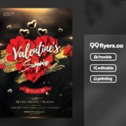 Valentine's Event Freebie Flyer PSD Template