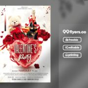 Valentines Love Event Free Flyer PSD Template
