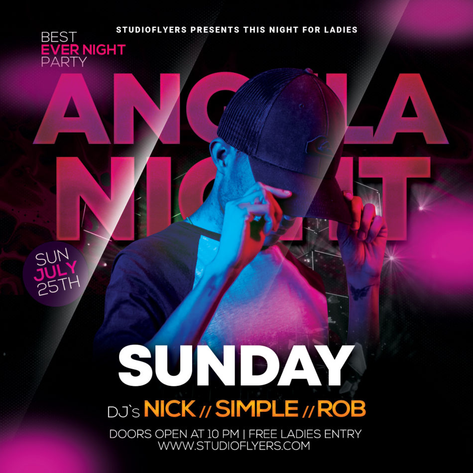 Night Club Event Free Flyer PSD Template